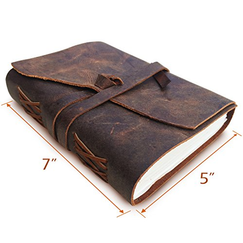 Leather journal writing