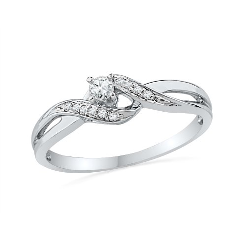 10k white gold promise rings