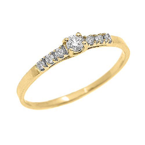 Promise rings yellow gold