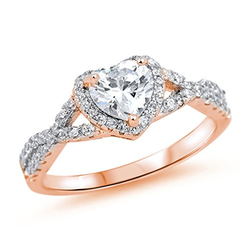 Promise rings for her rose gold