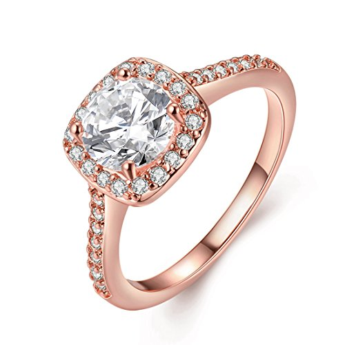 Rose gold promise rings for her