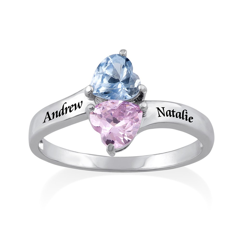 Mother birthstone rings