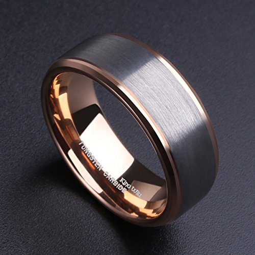 Rose gold promise rings for him