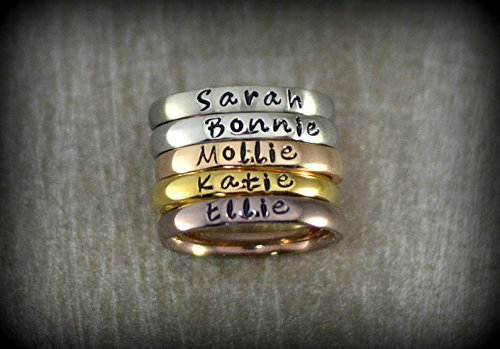 Stacking name ring