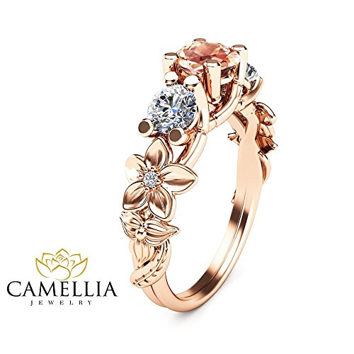 Unique rose gold engagement rings