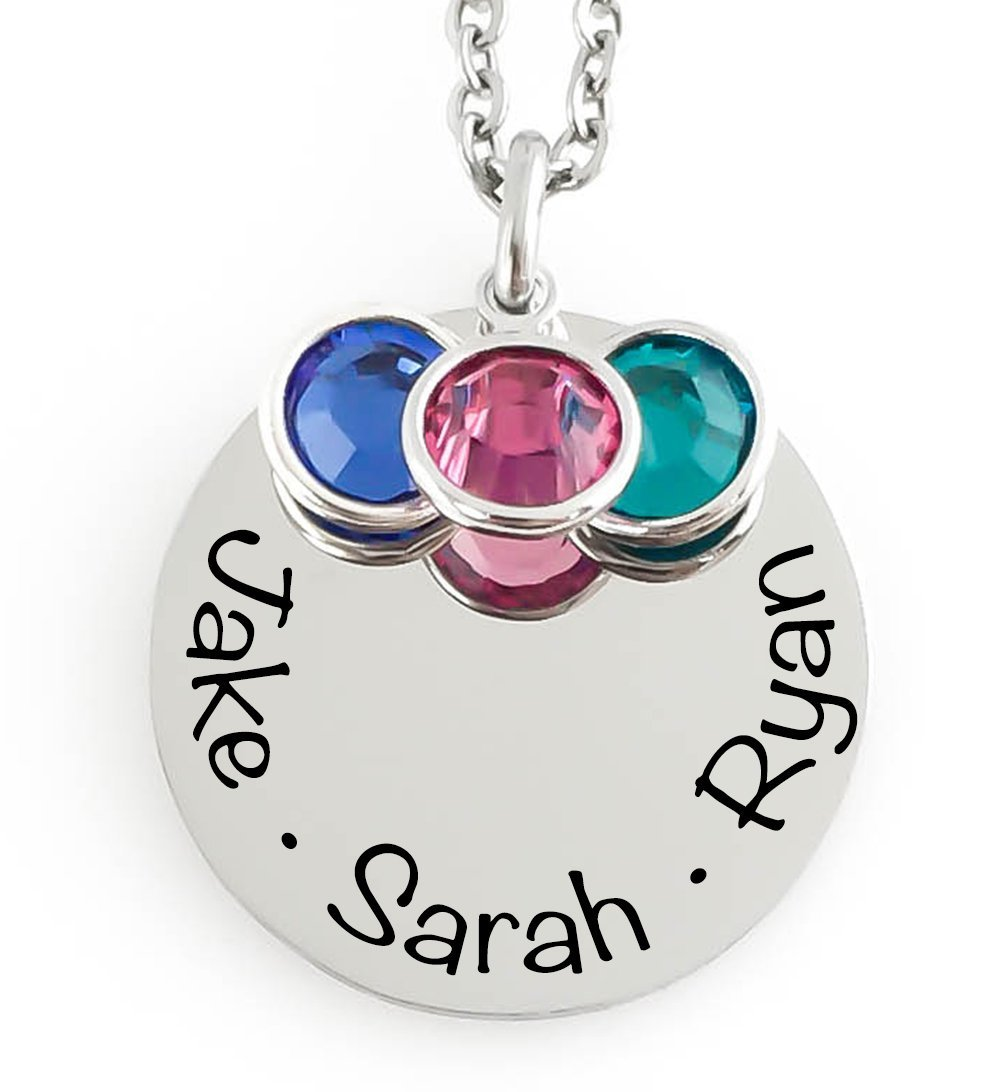 Mothers necklace with children's names