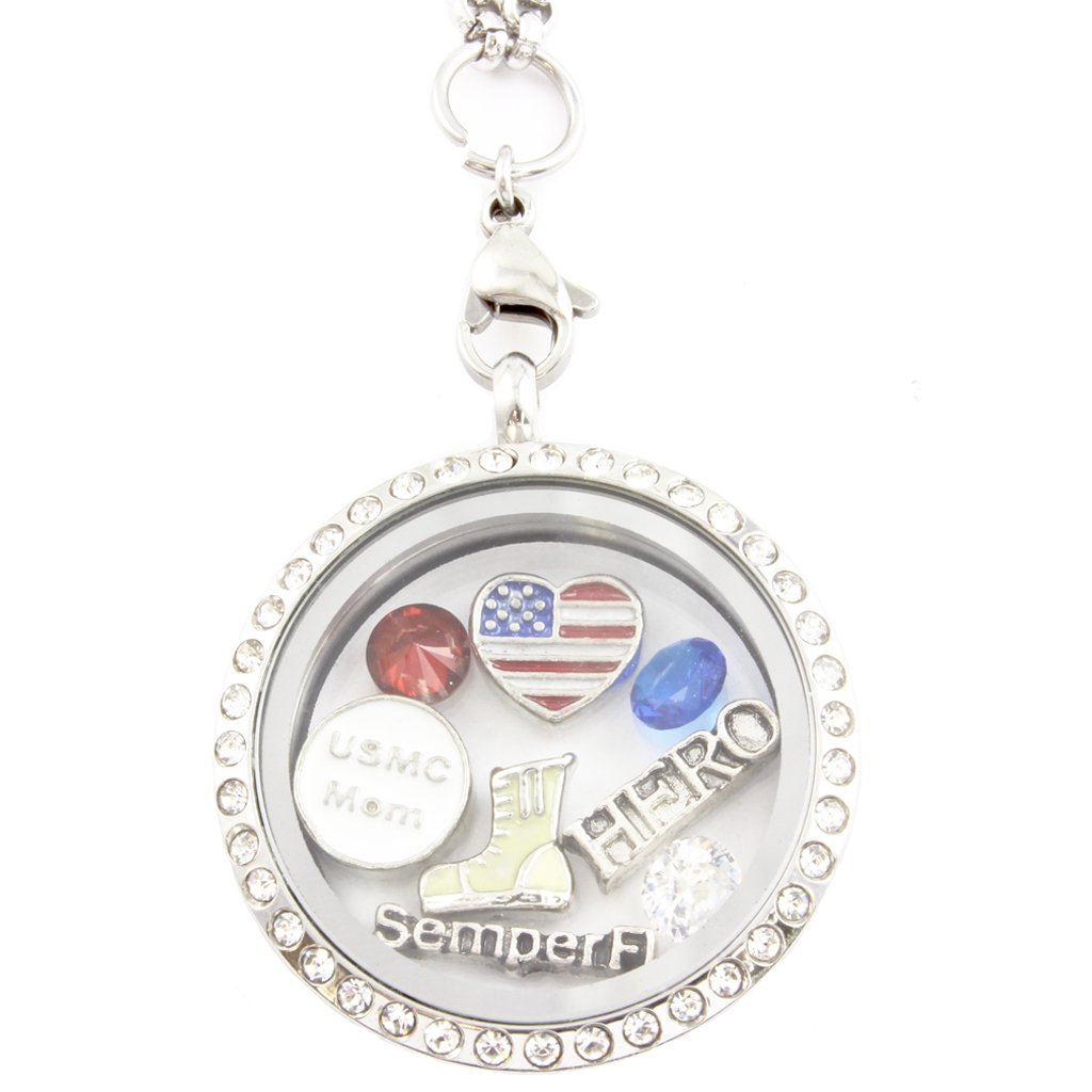 Marine mom necklace