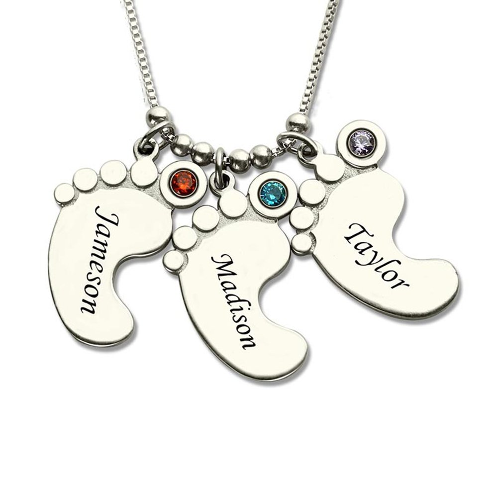 3 birthstone necklace
