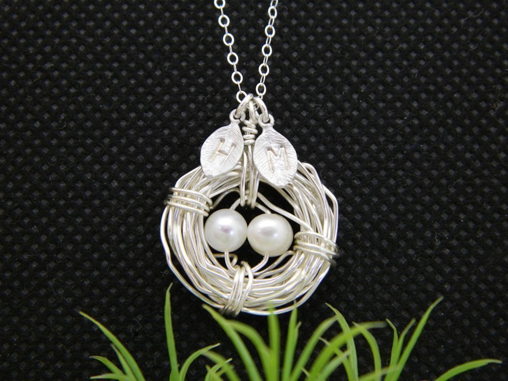 children's initial necklace for moms