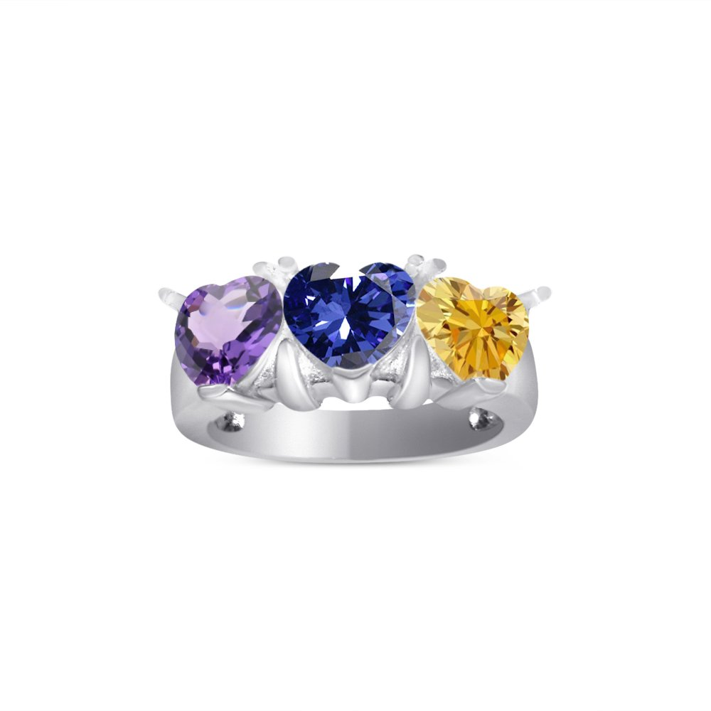 3 stone birthstone ring