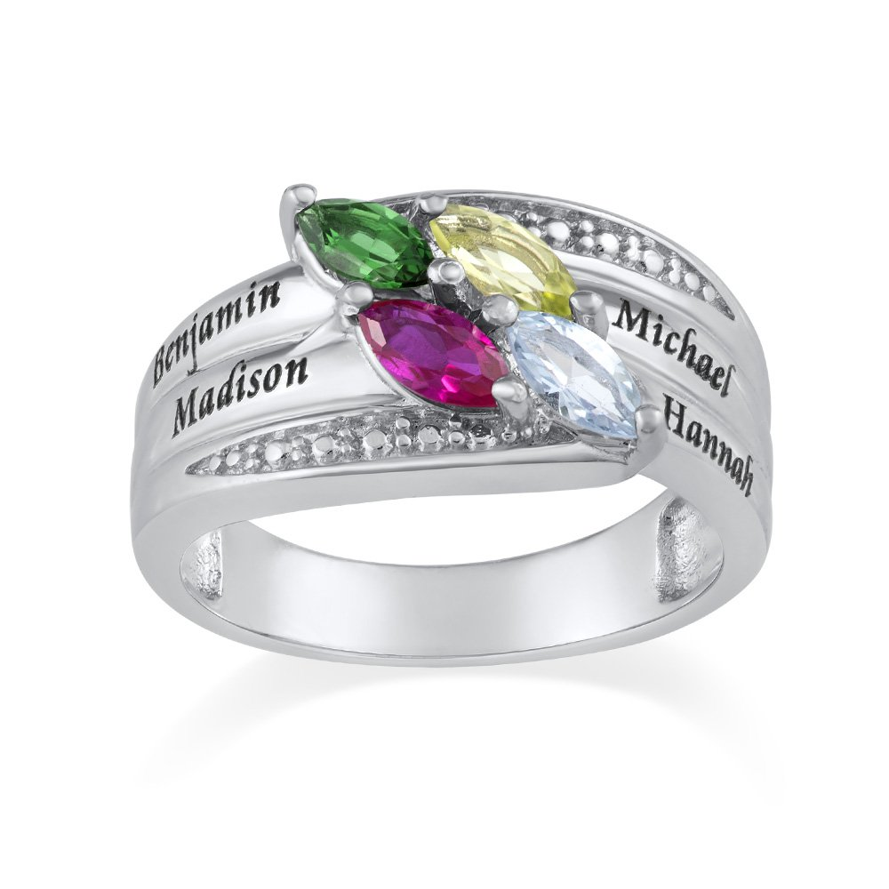 Personalized mothers ring