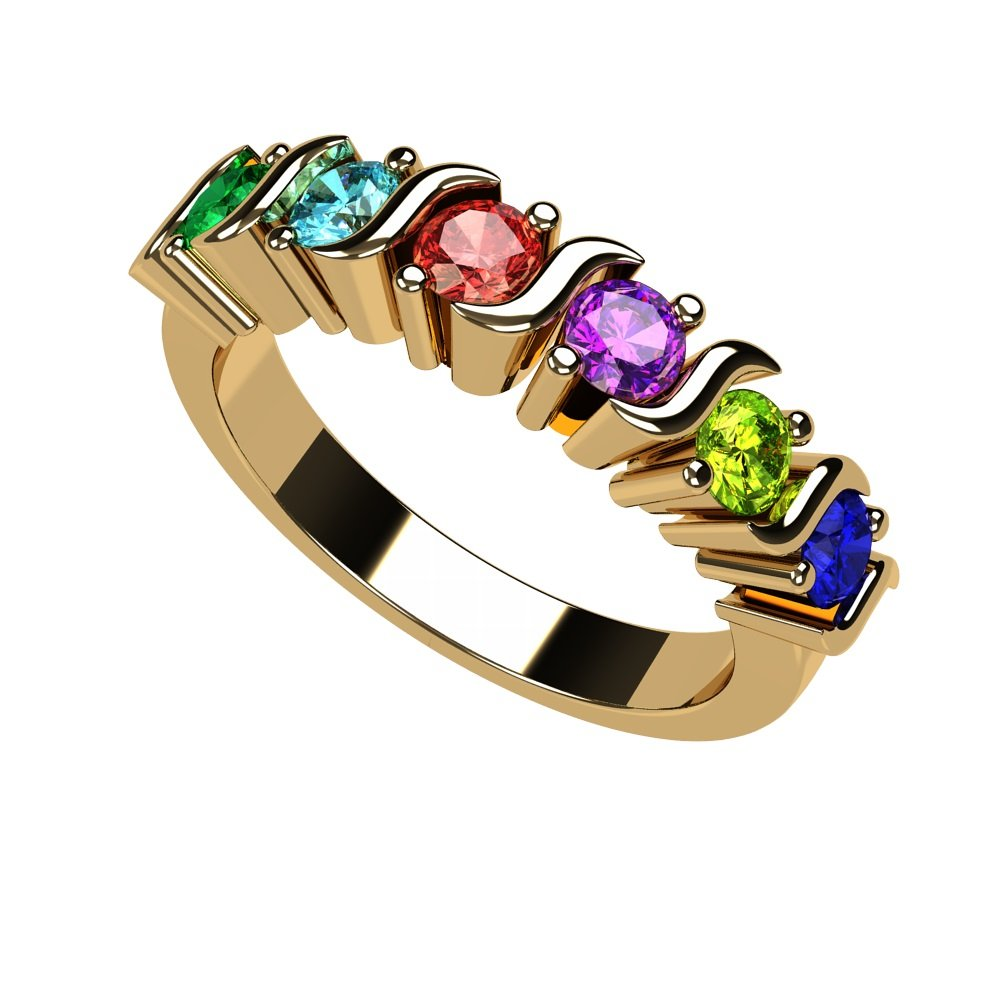 Gold Mothers day Ring