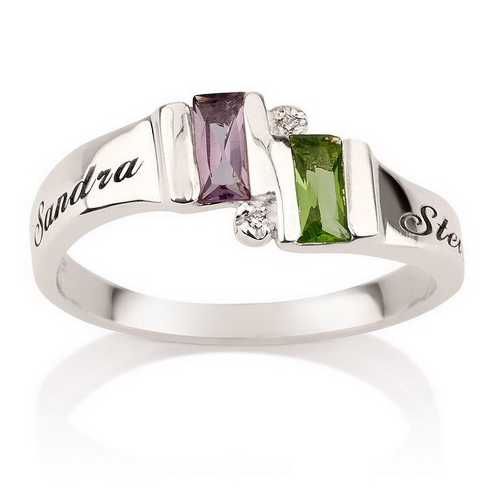 2-stone mothers ring