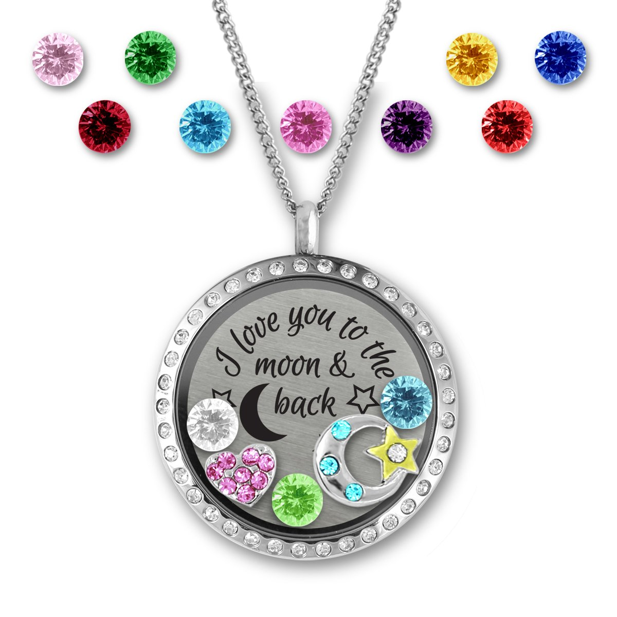 Birthstone necklace for grandmother