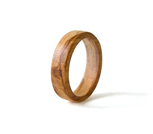 Personalized Olive Wood Men Ring