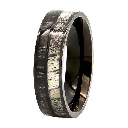 black koa wooden rings mens