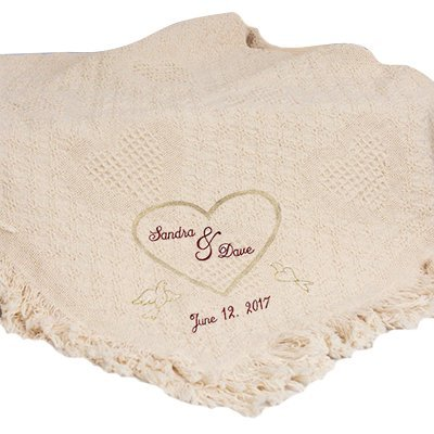 Personalized blanket for unique wedding gifts