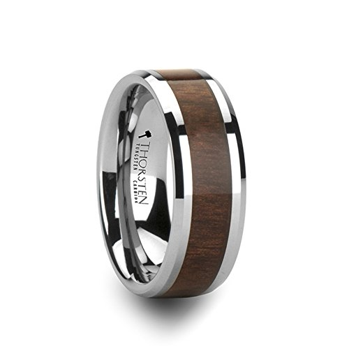 Bevels and Black Walnut wood Rings for men