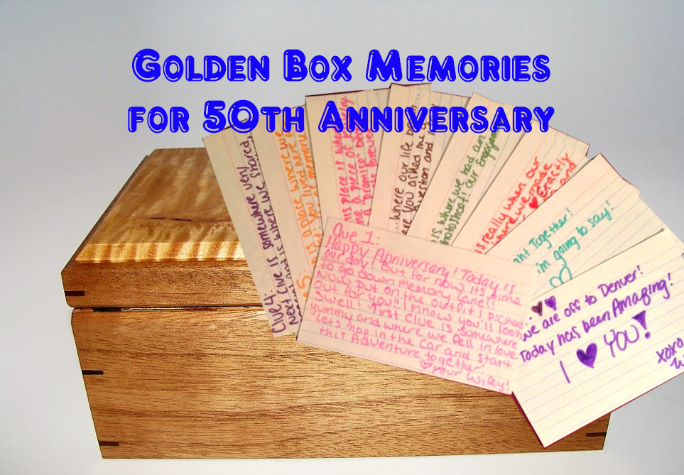 Golden box of memories for 50th anniversary