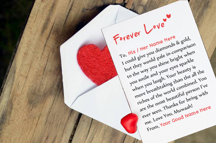 Love letter for his anniversary gift