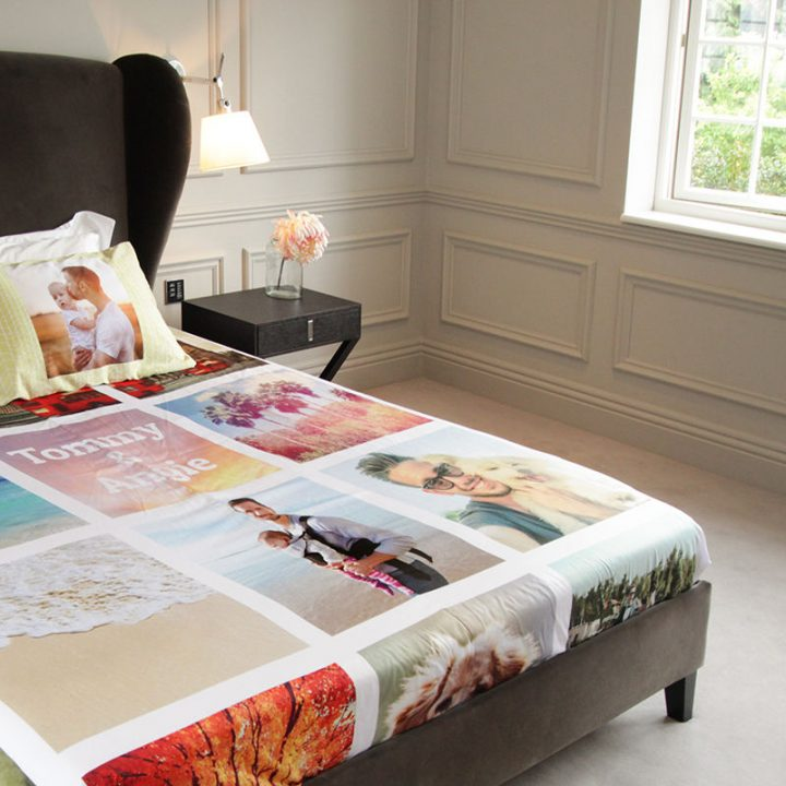 Personalized print bed sheet is a perfect Anniversary Gift