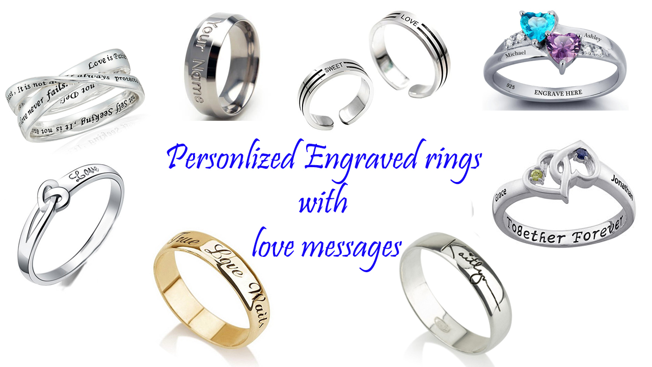 Personalized engraved ring with love message