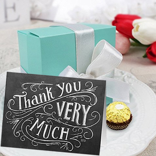 Personalized Wedding Gifts with Gift Boxes and Notes