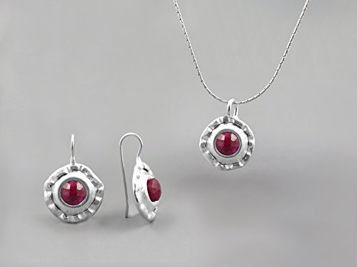 Red Ruby Gemstone Jewelry for 40th anniversary color