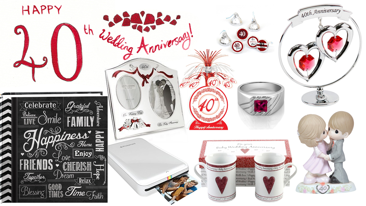 40th Wedding Anniversary Gift Ideas