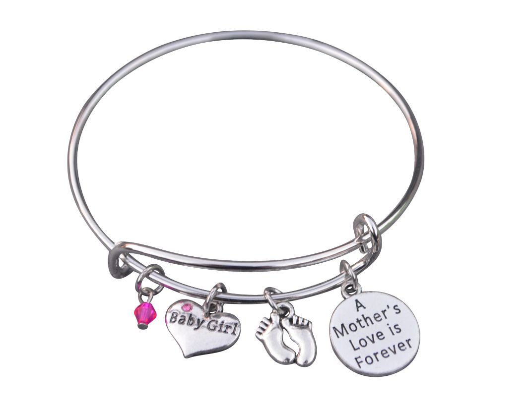 Mom Daughter Charm Bracelet for New Mom