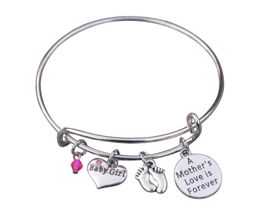 Mom Daughter Charm Bracelet for New Mom