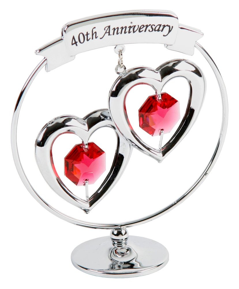 40th anniversary symbol with Silver Plated Keepsake