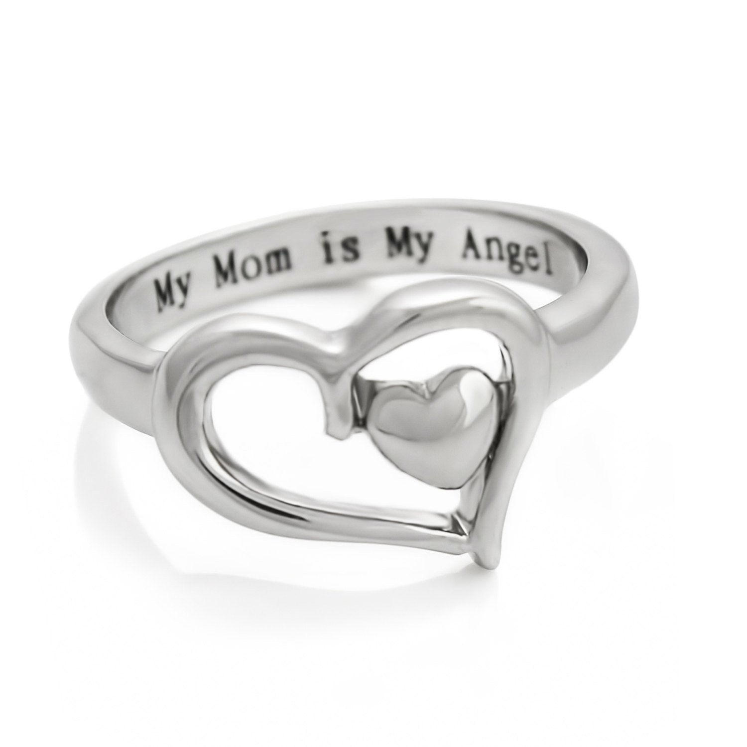 Mom and daughter rings