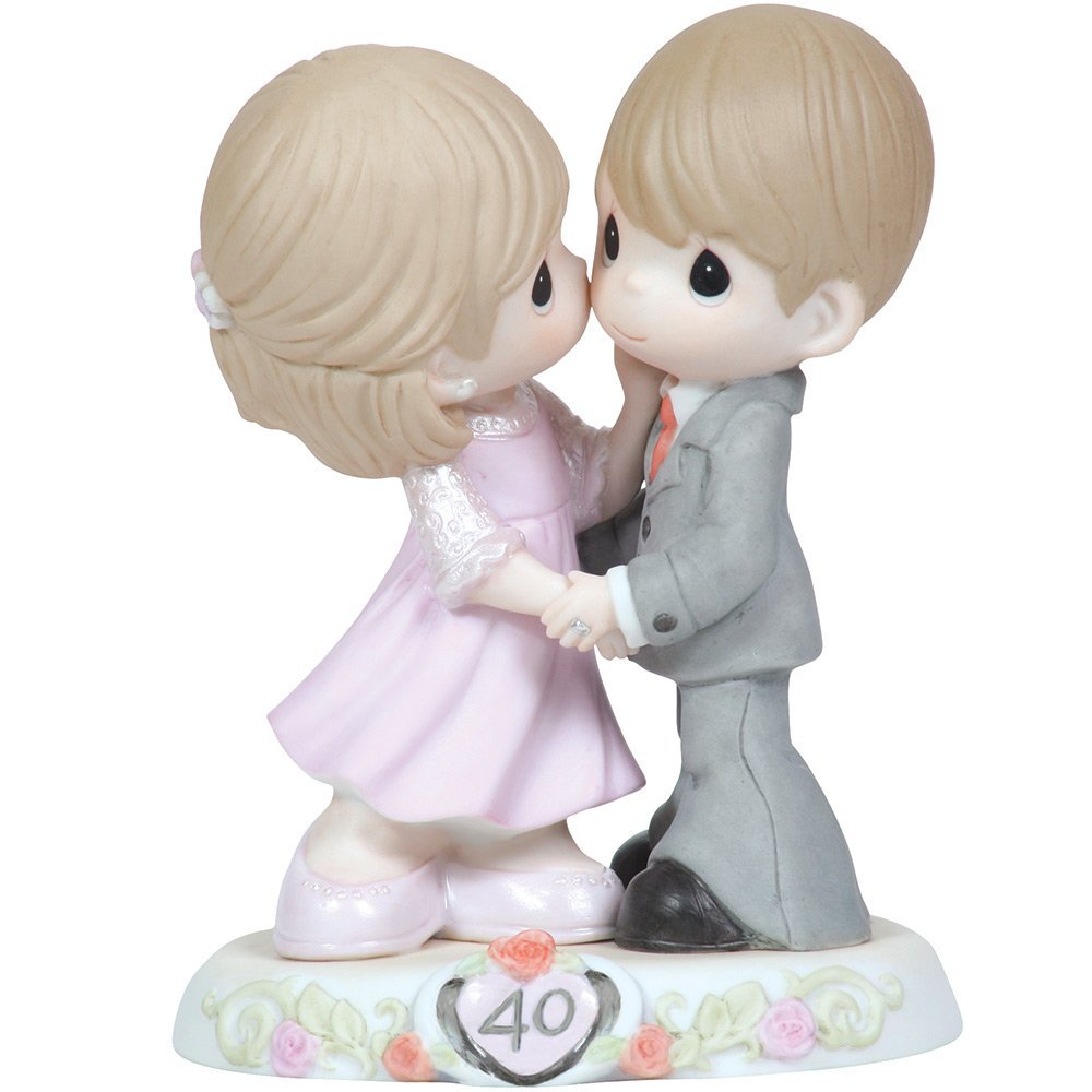 Bisque Porcelain Figurine is 40th anniversary gift for parents