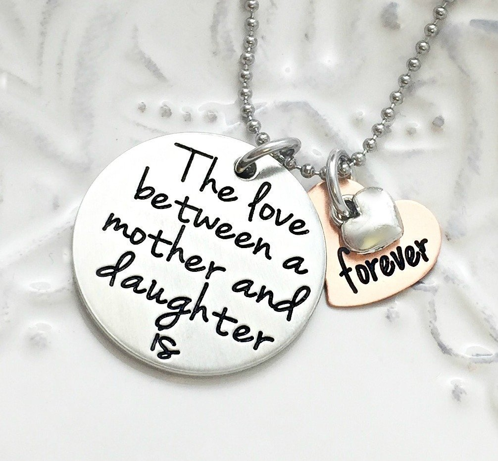 The Love Between A Mother and Daughter is Forever Personalized Necklace