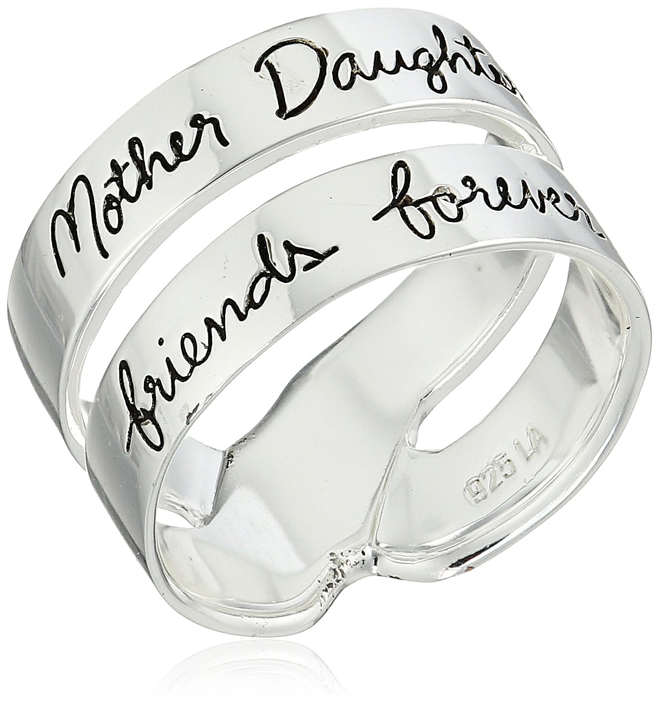 Double mother daughter rings