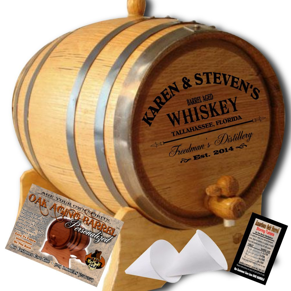 Personalized American Oak Aging Barrel