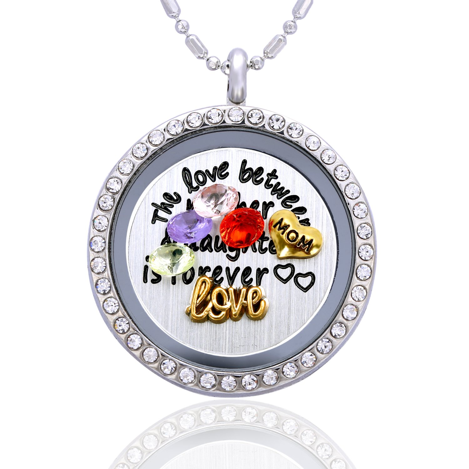 """The Love Between a Mother & Daughter is Forever"" Mothers Day Necklace"