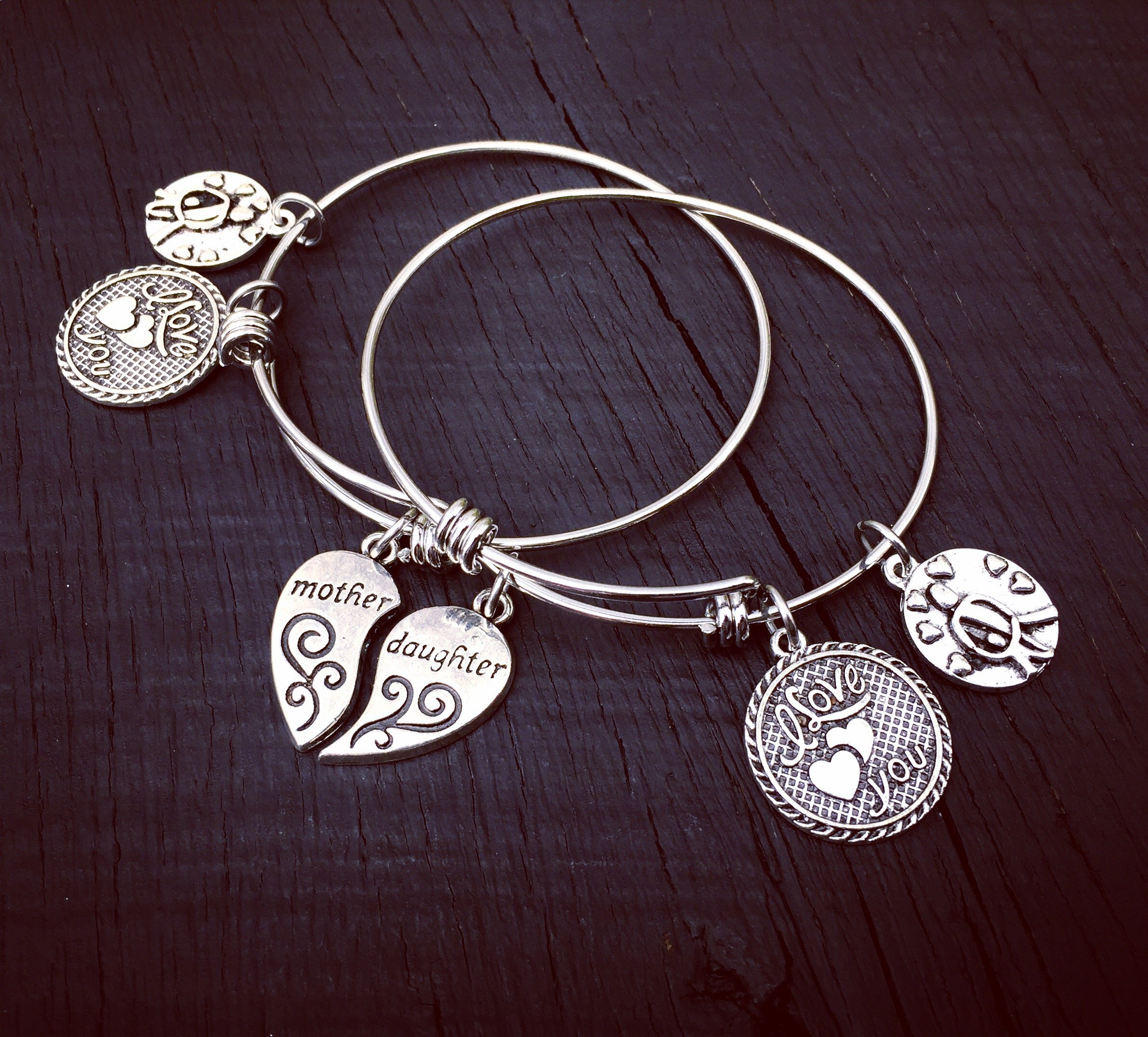 bangle bracelet nana jewelry gift theres handstamped these day my stole pin who heart personalize kids mothers mother