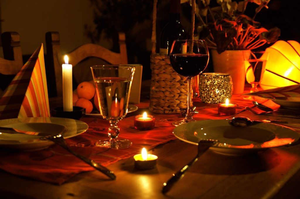 Candle lit dinner is a Romantic Birthday gift for him