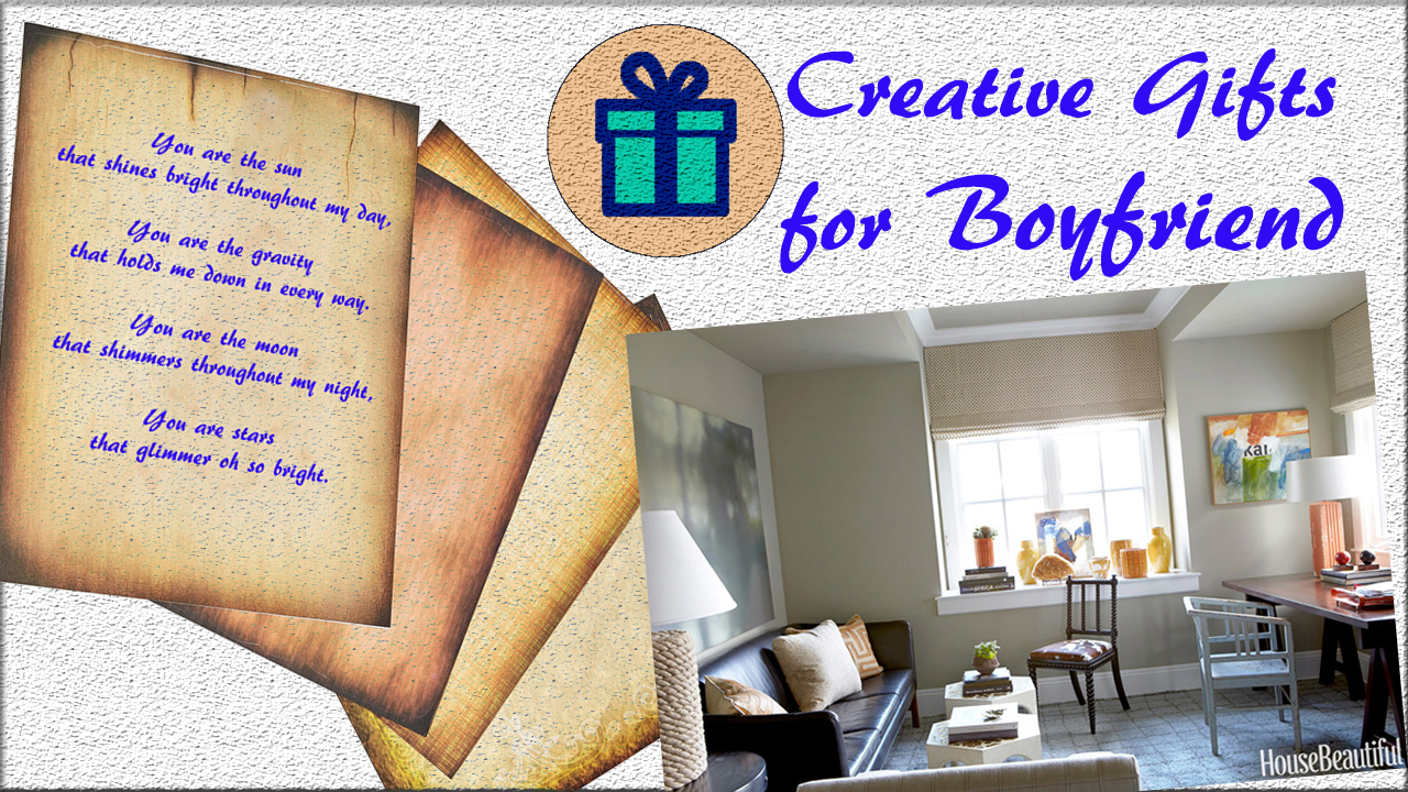 Creative gifts for boyfriend