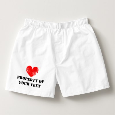 Personalized boxer short