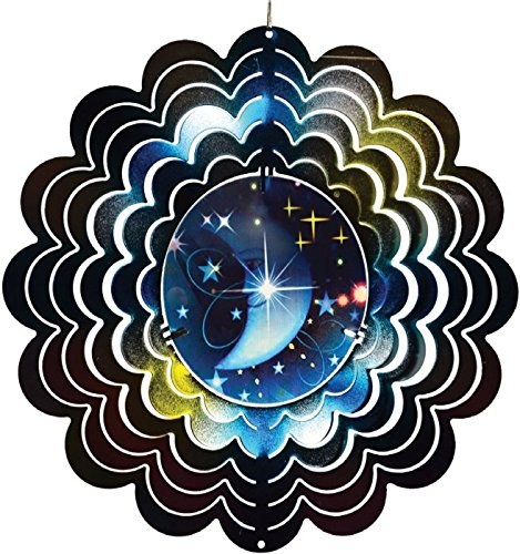 Sun, Moon and Star Holographic Spinner