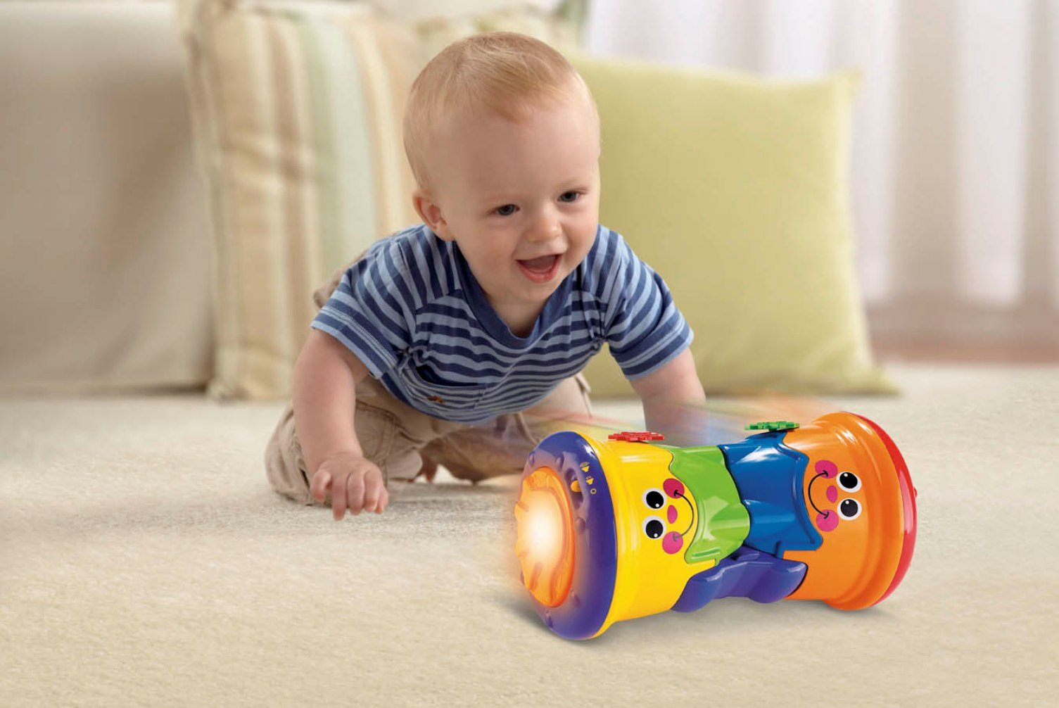 Crawling encouraging toys for babies
