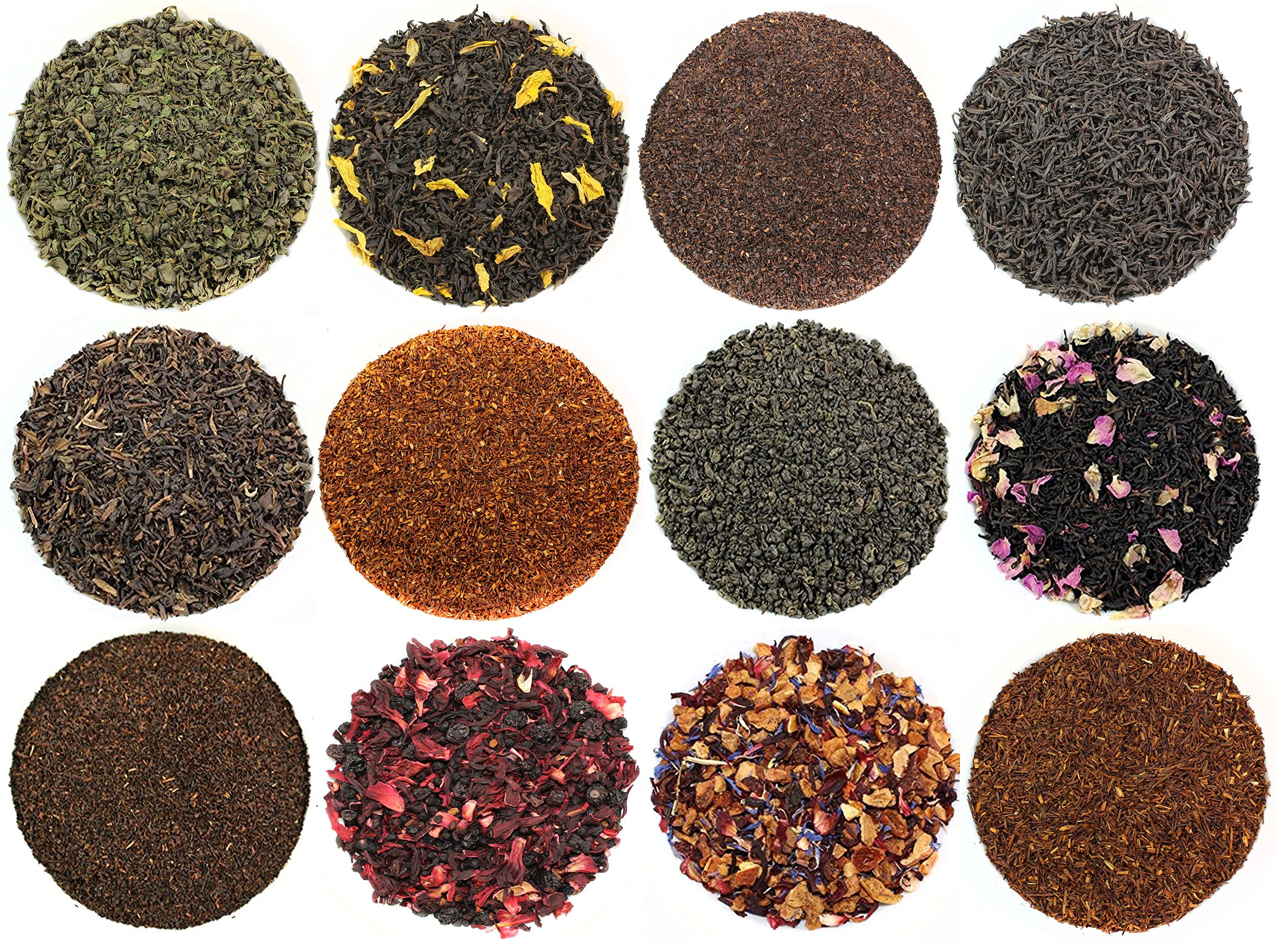 Sampler 12 Types of Loose Leaf Tea Image