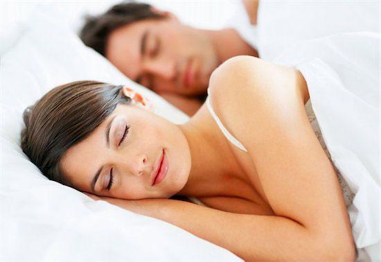 Woman sleep better