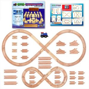 Wooden Train Track Set Image