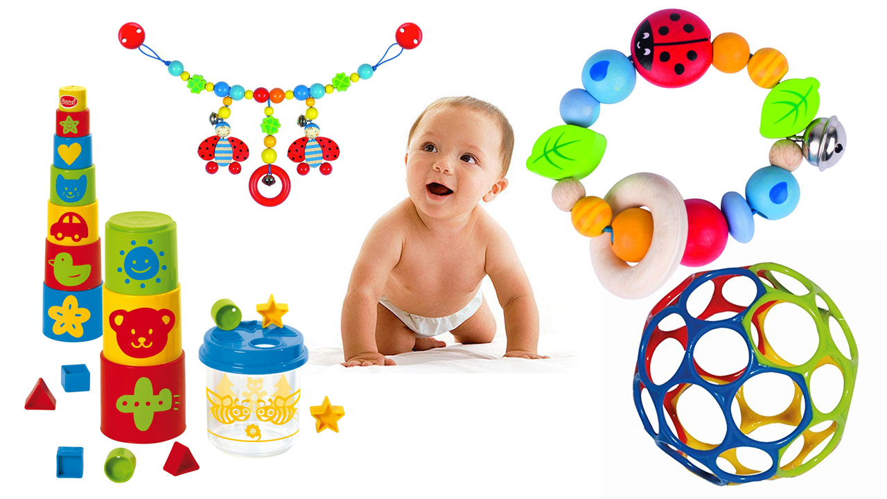 Toys for the babies from 0 to 6 months