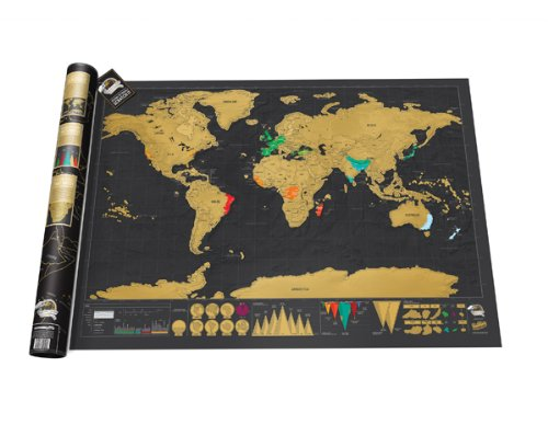 Map of scratching for travel gift ideas