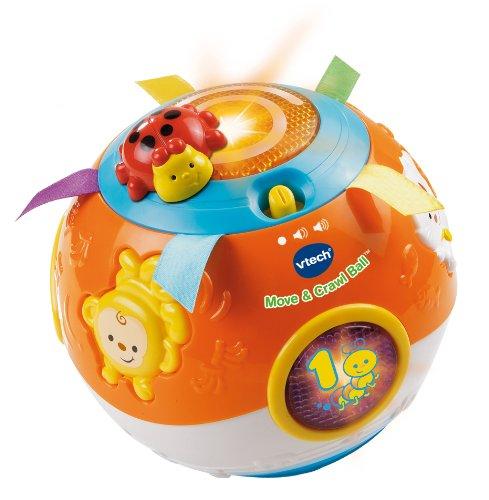 Toys for 9 to 12 months like the Follow and Crawl Baby Ball